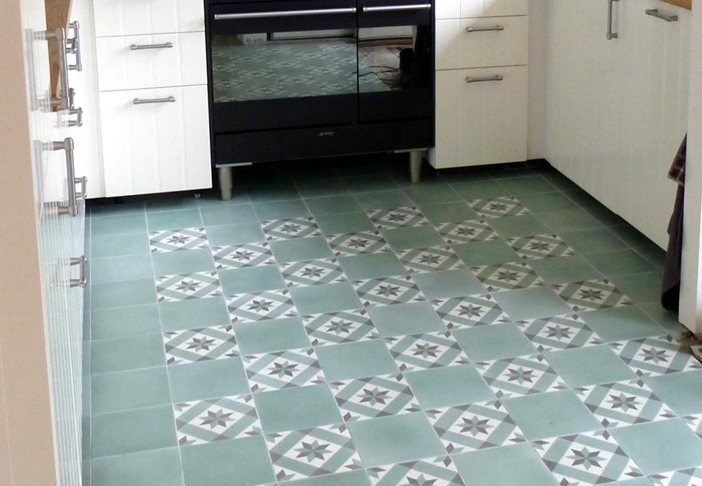Portugese Tegels Keukenvloer : Realisaties met tegels van patroonfabriek cementtegels zelliges