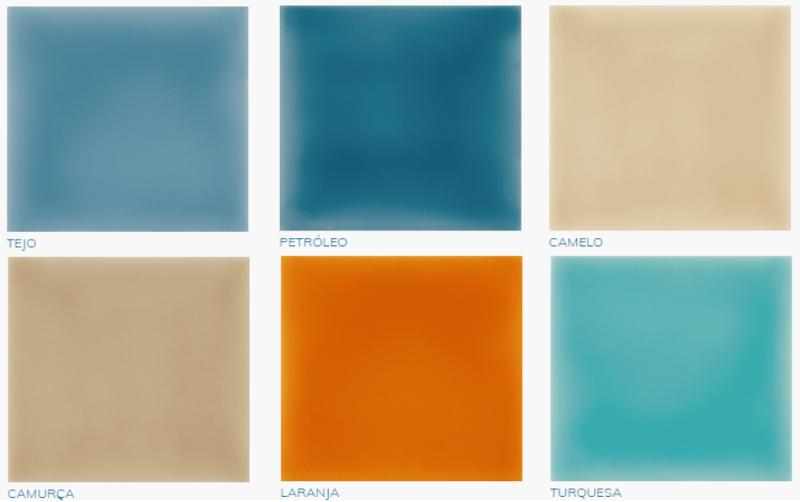 Overzicht kleuren en voorraad Azulejos uni geglazuurde