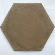 terracotta hexagon zwart