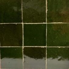 zellige alhambra donker flessengroen 36